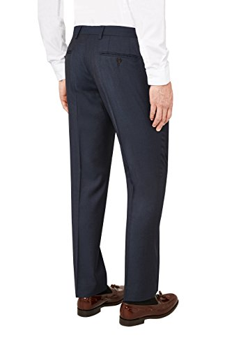 next Homme Costume en laine italienne : Pantalon Bleu Marine 46 / Regular - Tailored Fit