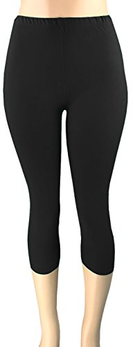 Lush Moda Extra Soft Leggings - Variety of Colors -Plus Size - Black, One Size fits Most (XL - 3XL)