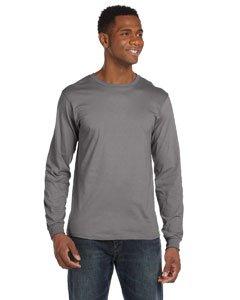 Anvil 949 Adult Lightweight Long-Sleeve Tee - Storm Grey, Medium
