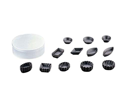 Paderno World Cuisine Set of 60 Assorted Non-Stick Petit Four Molds (round/1.5 dia. and square/2.5 dia.)