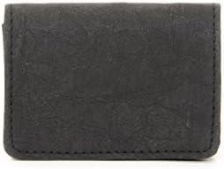 FRITZVOLD Visitenkarten-Etui aus Papier-Kunstleder - Schlanke Visitenkarten-Hülle, Case, Sleeve mit praktischen Magnetverschluss in schwarz LAUNCHPREIS