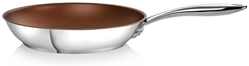 Ozeri 10-Inch Stainless Steel Pan with ETERNA, a PFOA and APEO-Free Non-Stick Coating
