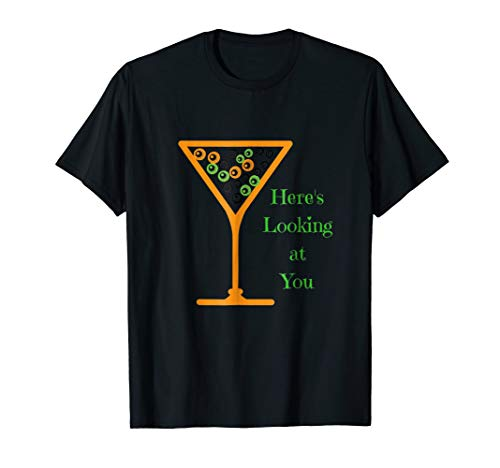 Funny Halloween Eyeballs Martini Glass Looking At You Shirt -