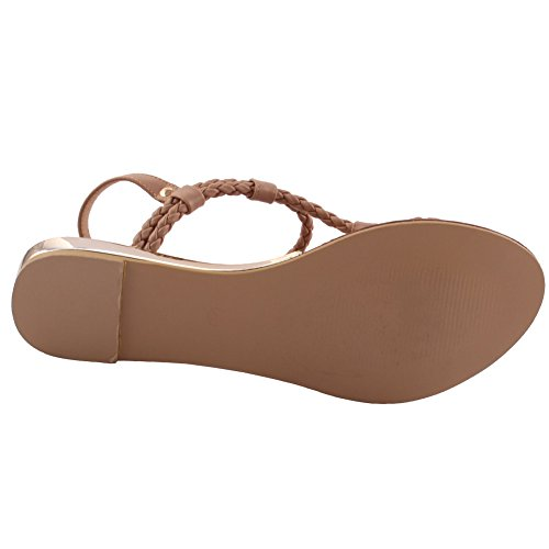 Unze Nuevas mujeres 'Conrad' trenzado Beach Party Get Together Carnaval Casual Sandalias Planas Zapatos Reino Unido Tamaño 3-8 O5wE4cT