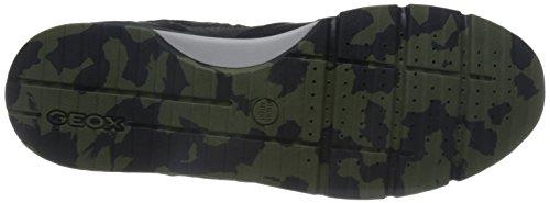 Geox Herren U Sandford B ABX A Sneaker, Grau (Black/Anthracitec9270), 46 EU