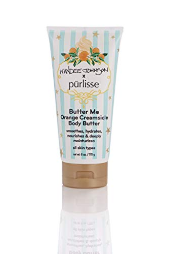 purlisse x Kandee Johnson - Butter Me Body Butter Orange Creamsicle Moisturizing Luxury Spa Treatment, Kandee-Luscious Body Collection, 6 Oz