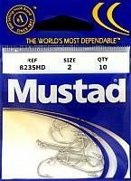 Mustad Classic 5 Extra Strong Turned Down Ball Eye Hollow Point Duratin Limerick Hook (Pack of 10), - Limerick Hooks