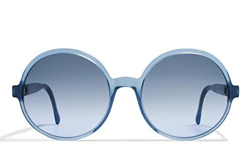 Mykita Sunglasses Frame New Patented Germany Mod.YOLANDA Blue Pearl 55 - Mykita Round Frame Sunglasses