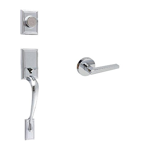 Dummy Soho Handleset (EZ-Set 240640 Philadelphia Hardware Kellington Dummy Handleset with SoHo Lever Round Rosette, Polished Chrome)