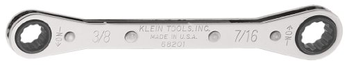 Ratcheting Box Wrench 3/8 x 7/16-Inch Klein Tools 68201