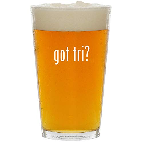 - got tri? - Glass 16oz Beer Pint