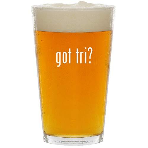 got tri? - Glass 16oz Beer Pint (Tri Tronics Trashbreaker G3 Exp 6 Dog)