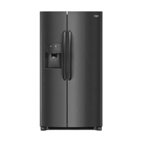 Frigidaire FGSS2635TD Gallery Series 36 Inch Freestanding Side by Side Refrigerator with 25.6 cu. ft. Capacity, in Black Stainless Steel ()