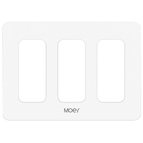 MOES 3 Gang Wall Switch Plate Only compatible with Model WT02S WT03S,Not Compatible with Other Moes Smart Switch.(WT05S(3 Gang Switch Plate))
