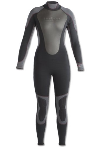 Aqua Lung Sport Women's 3mm Quantum Stretch Fullsuit (Black / Pink, 7-8)
