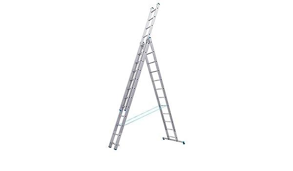 Tubesca – Escalera transformable 3 tramos 12 + 12 + 12 peldaños haut. punto de Max 8,21 M – Starline S +: Amazon.es: Bricolaje y herramientas