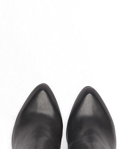 new arrival 49f2f 4bd84 ... PoiLei Manon - chaussure femme  élégantes bottines en cuir à talon  haut epais - avec