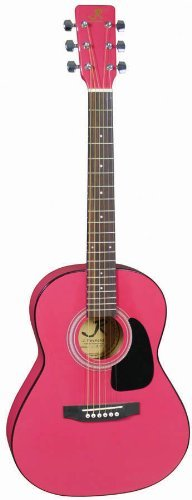 """New Lauren LAPKMRD 1//2 Size 30/"""" Inch Student Acoustic Guitar Pack Metallic Red"""