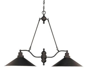 Nuvo 60/1703 2 Light Mission Dust Bronze Trestle by Nuvo