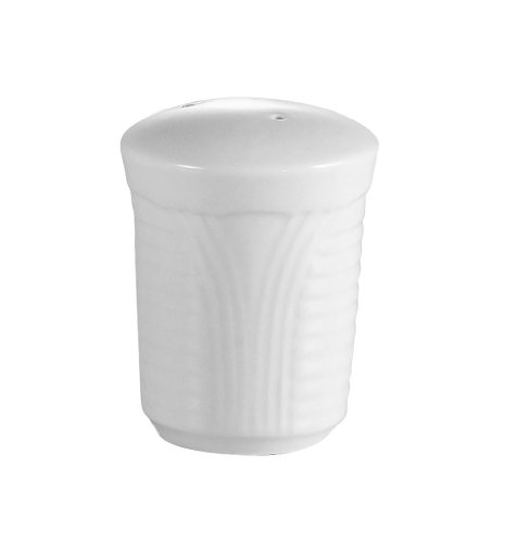 CAC China CRO-PS Corona 2-1/8-Inch Super White Porcelain Pepper Shaker, Box of 48 by CAC China