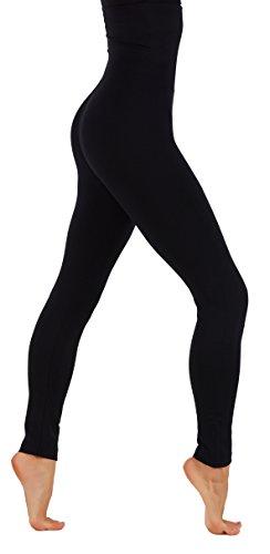 CodeFit Premium Thick Fleece High Waist Tummy Control Slimming Leggings (L/XL USA 10-16, - Fleece Premium Top
