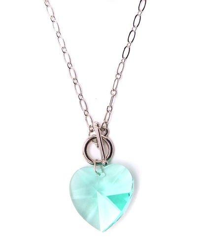 2995d94a6009 Collar de forma de cristal de Swarovski en Aqua collar de cristal de  Swarovski en
