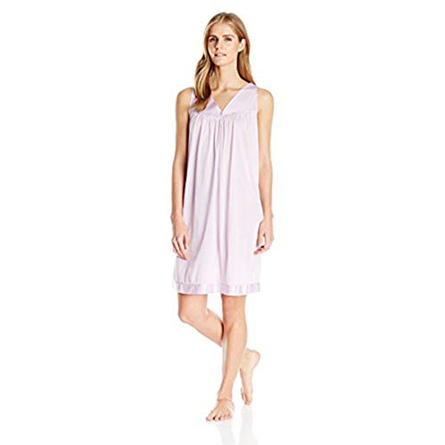 (Exquisite Form Women's Colortura Sleepwear Short Gown 30107, Wisteria Bud, Small)