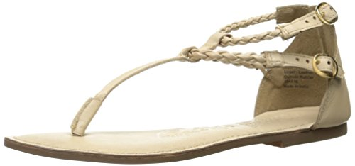 Naughty Monkey Women's in Luck Now Dress Sandal Cream TULBLxI