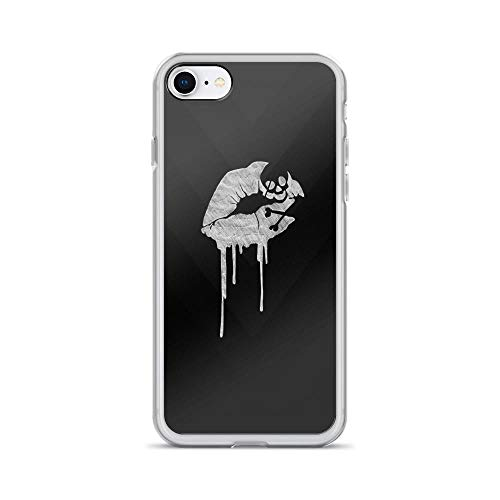 iPhone 7/8 Pure Clear Case Cases Cover Dripping Skull Kisses Design Artwork Illustration ()