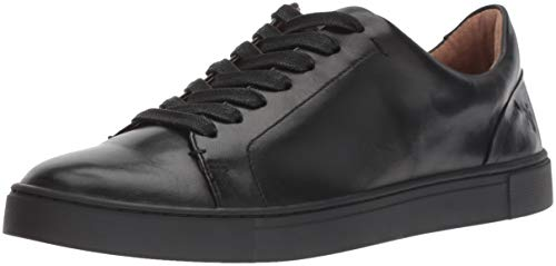 FRYE Women's Ivy Low LACE Sneaker, Black Soft Full Grain, 7 M US