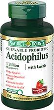 Nature? Bounty Acidophilus à croquer avec Lactis lait Gaufrettes gratuit, naturel arôme de fraise, 100 comte
