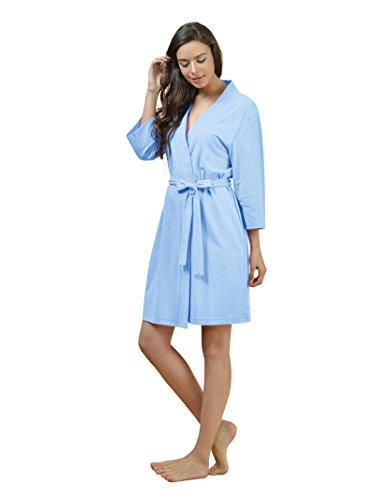 af08f63c34 SIORO Cotton Robes Lightweight Kimono Robe Gowns Soft Knit Bathrobe ...