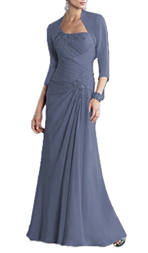 ALfany Women's Chiffon Mother of the Bride Dress Formal Gown with Jacket US16