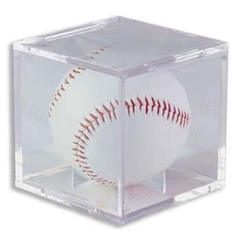 (1) One - Clear Ultra-PRO Baseball Cube Holder - Ultra PRO's Baseball Holder is the top of the line Protector & the best way to display & protect Baseballs. No PVC & Acid Free so it will not damage Balls or Autographs - (Baseball is not includ