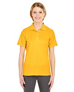 UltraClub 8210L Ladies Cool & Dry Mesh Pique Polo Polyester Gold Small