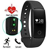 Fitness Tracker HR, Unchained Warrior Unisex Performance Activity Tracker Watch and Heart Rate Monitor, Black, One Size