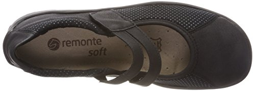 Remonte Women's R3510 Closed Toe Ballet Flats, Schwarz/Schwarz/Schwarz/02 Black (Schwarz/Schwarz/Schwarz 02)