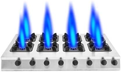 商業用ステンレス鋼鍋ストーブ、3/4/6/8ガスレンジ、省エネ液化ガス/天然ガスストーブ、パルス電子点火