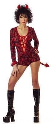 Women Medium (6-8) She Devil/Cupid Costume Jumpsuit