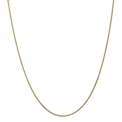 10k Yellow Gold 1.25mm Spiga Chain 18in Necklace by Diamond2Deal