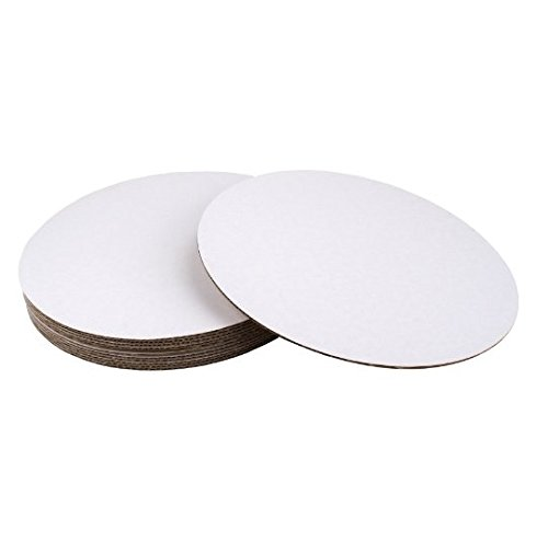 SafePro 14CC, 14-Inch White Round Corrugated Cardboard Circles, Cake Pie Bakery Paperboard Pads Trays (100)