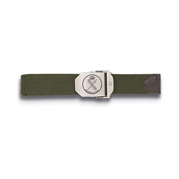 Tiendas LGP Albainox-Cinturòn Ajustable,130X3,9 cm. Verde Hebilla Metalica Guardia Civil 2
