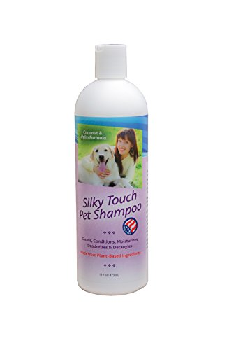 Pet Shampoo (16oz) for Cats and Dogs. Safe, All Natural, Organic, Plant Based Shampoo. Cat Dog Conditioner.