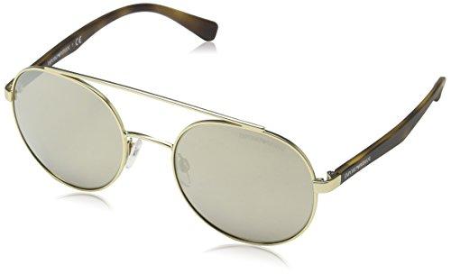 Emporio Armani EA2051 30135A Matte Pale Gold EA2051 Round Sunglasses Lens - Sunglasses Armani Round