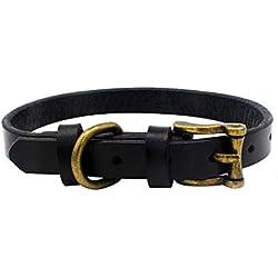 Loveso Pet Collar Pet Dog and Dog Collar Adjustable Collar Rivet Retro Collar