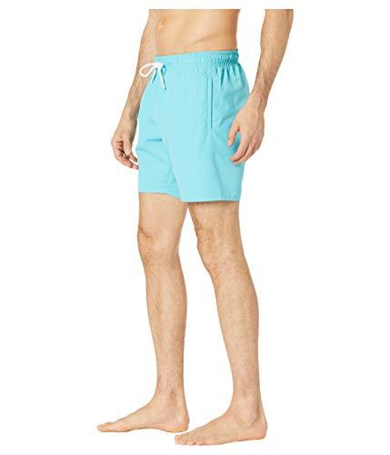 Lacoste Men's Classic Solid Elastic Waist Taffeta Swim Trunks