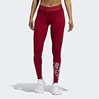 adidas Alphaskin Badge of Sport Tight, Active Maroon, X-Small