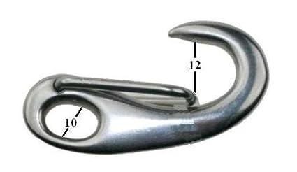 Arbo-Inox - Gancio a scatto in acciaio inox anti-ruggine, 70 mm