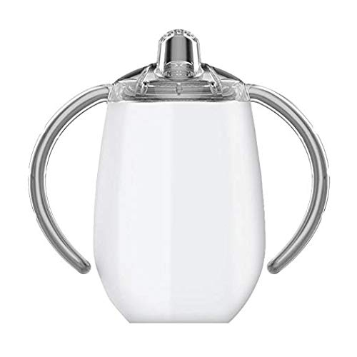 True North Stainless Steel Insulated Sippy Cup for Toddler + Baby with No-Spill BPA Free Triton Lid, Keeps Drinks Cold for 24 Hours, 9 oz, Beach White