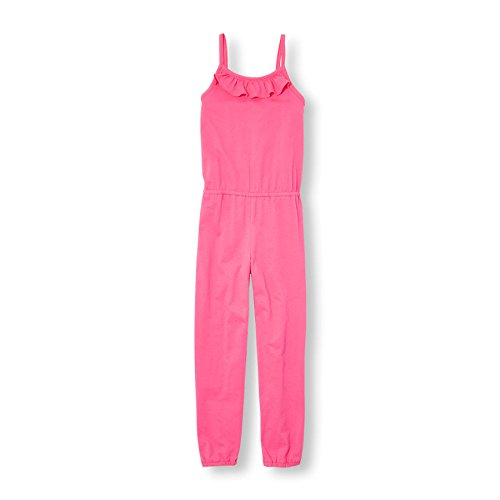 The Children's Place Little Girls' Solid Jumpsuit, Iced Berry, XS (4)